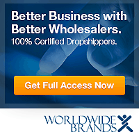 Worldwide Brands Membership - 100% certified drop shippers